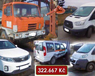12.8.2021 Dražba různých vozidel Ford Transit, Tatra 815, Fiat Doblo, Peugeot Boxer, Kia Sorento. Vyvolávací cena 322.667 Kč, ➡️ ID811640