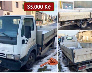 25.8.2021 Dražba nákladního automobilu Nissan Cabstar. Vyvolávací cena 35.000 Kč, ➡️ ID813976