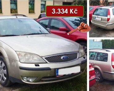 19.8.2021 Dražba automobilu Ford Mondeo. Vyvolávací cena 3.334 Kč, ➡️ ID812024