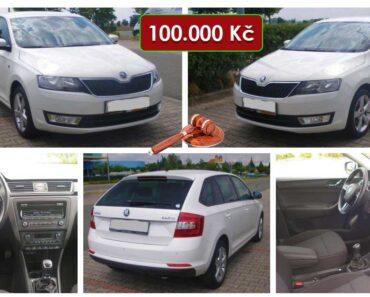 26.8.2021 Aukce automobilu Škoda Rapid. Vyvolávací cena 100.000 Kč, ➡️ ID814265