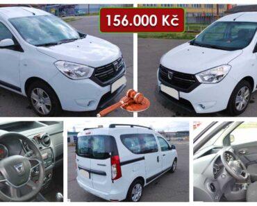 7.8.2021 Dražba automobilu Dacia Dokker. Vyvolávací cena 156.000 Kč, ➡️ ID812040