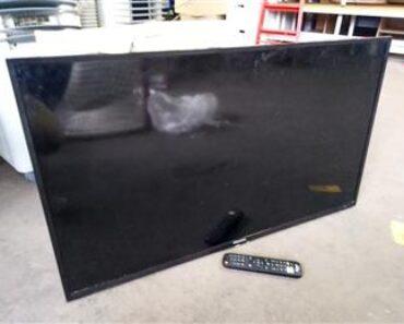 26.8.2021 Dražba elektroniky (TV Hisense s držákem na zeď +DO). Vyvolávací cena 300 Kč, ➡️ ID813487