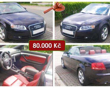 Zisková Dražba Audi A4 Cabriolet – vydraženo jen za: 185.000 Kč