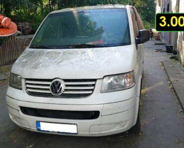 12.10.2021 Dražba automobilu VW Transporter 7HC. Vyvolávací cena 3.000 Kč, ➡️ ID826732