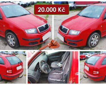 2.10.2021 Dražba automobilu Škoda Fabia Combi. Vyvolávací cena 20.000 Kč, ➡️ ID829543