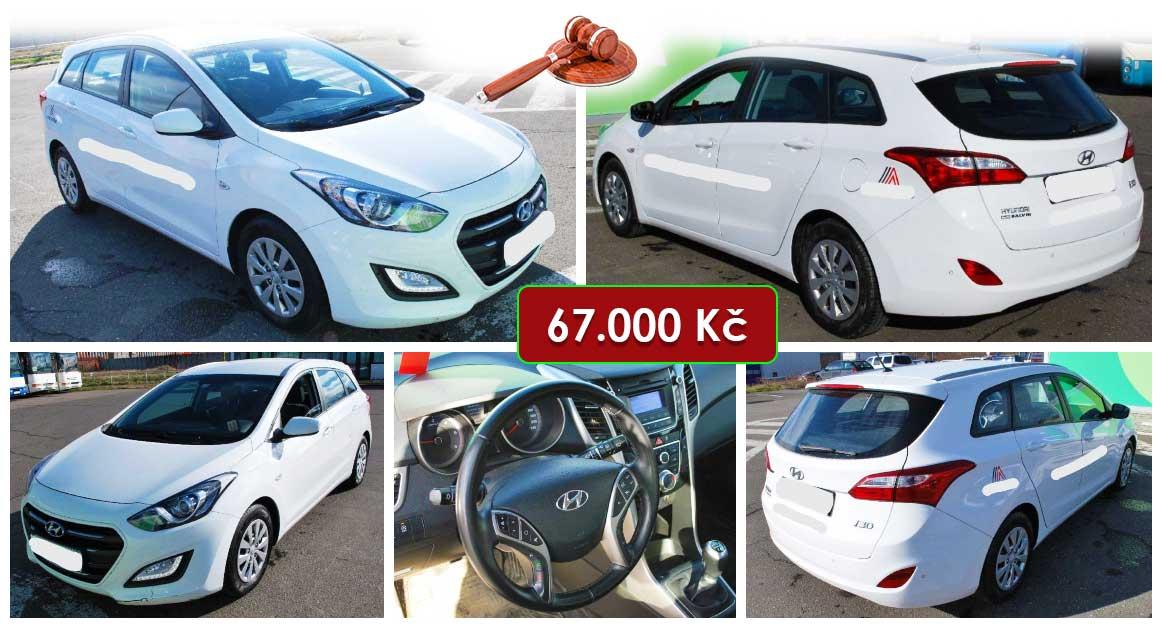 Do 30.9.2021 Aukce automobilu Hyundai i30 Combi. Vyvolávací cena 67.000 Kč, ➡️ ID829843