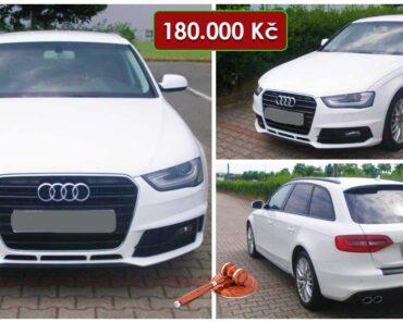 Zisková Dražba Audi A4 Combi – vydraženo jen za: 354.000 Kč