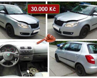 Do 2.10.2021 Aukce automobilu Škoda Fabia II 1,6. Vyvolávací cena 30.000 Kč, ➡️ ID829533