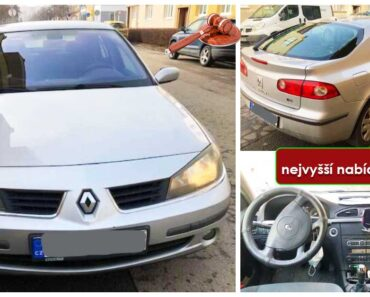 Do 3.10.2021 Výběrové řízení na prodej automobilu Renault Laguna. Min. kupní cena - prodej nejvyšší nabídce Kč, ➡️ ID827312