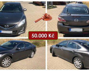30.9.2021 Dražba automobilu Mazda 6. Vyvolávací cena 50.000 Kč, ➡️ ID828625