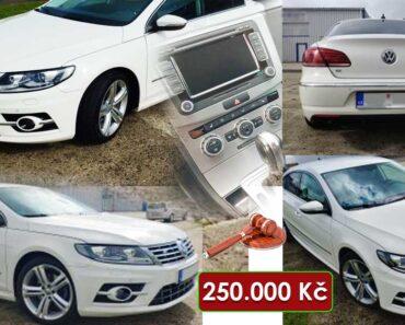 30.9.2021 Aukce automobilu Volkswagen CC, 2.0 TDi 130 kW DSG 4x4 R-LINE. Vyvolávací cena 250.000 Kč, ➡️ ID828397