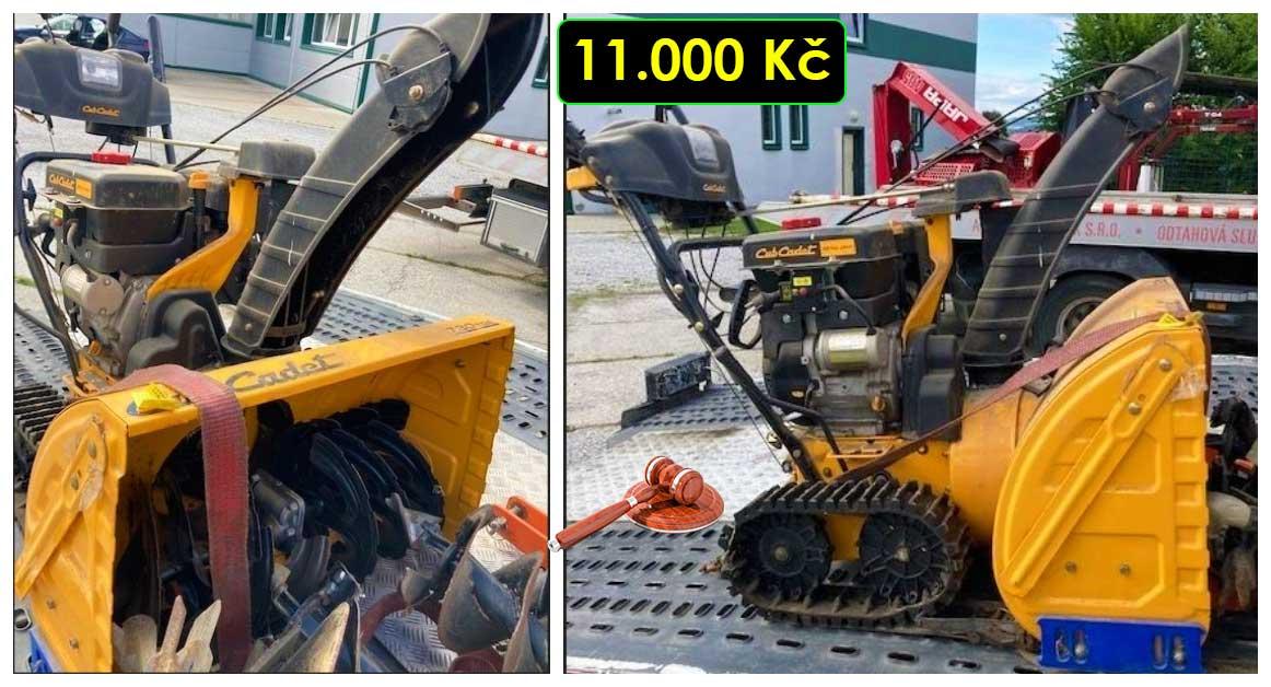 21.10.2021 Dražba stroje - frézy na sníh. Vyvolávací cena 11.000 Kč, ➡️ ID829679