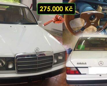 23.9.2021 Aukce automobilu Mercedes Benz W124 260E. Vyvolávací cena 275.000 Kč, ➡️ ID829208