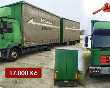 25.10.2021 Dražba nákladního automobilu - soupravy Man+přívěsu. Vyvolávací cena 17.000 Kč, ➡️ ID828973