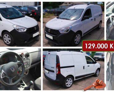 2.10.2021 Dražba automobilu Dacia Dokker. Vyvolávací cena 129.000 Kč, ➡️ ID825704