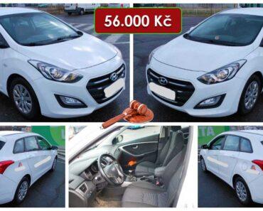 Do 30.9.2021 Aukce automobilu Hyundai i30 Combi. Vyvolávací cena 56.000 Kč, ➡️ ID829801