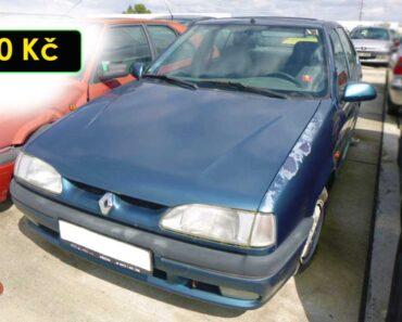 5.10.2021 Dražba automobilu Renault 19. Vyvolávací cena 300 Kč, ➡️ ID829398
