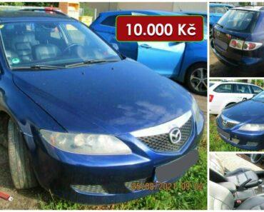 19.10.2021 Dražba automobilu Mazda 6. Vyvolávací cena 10.000 Kč, ➡️ ID826223