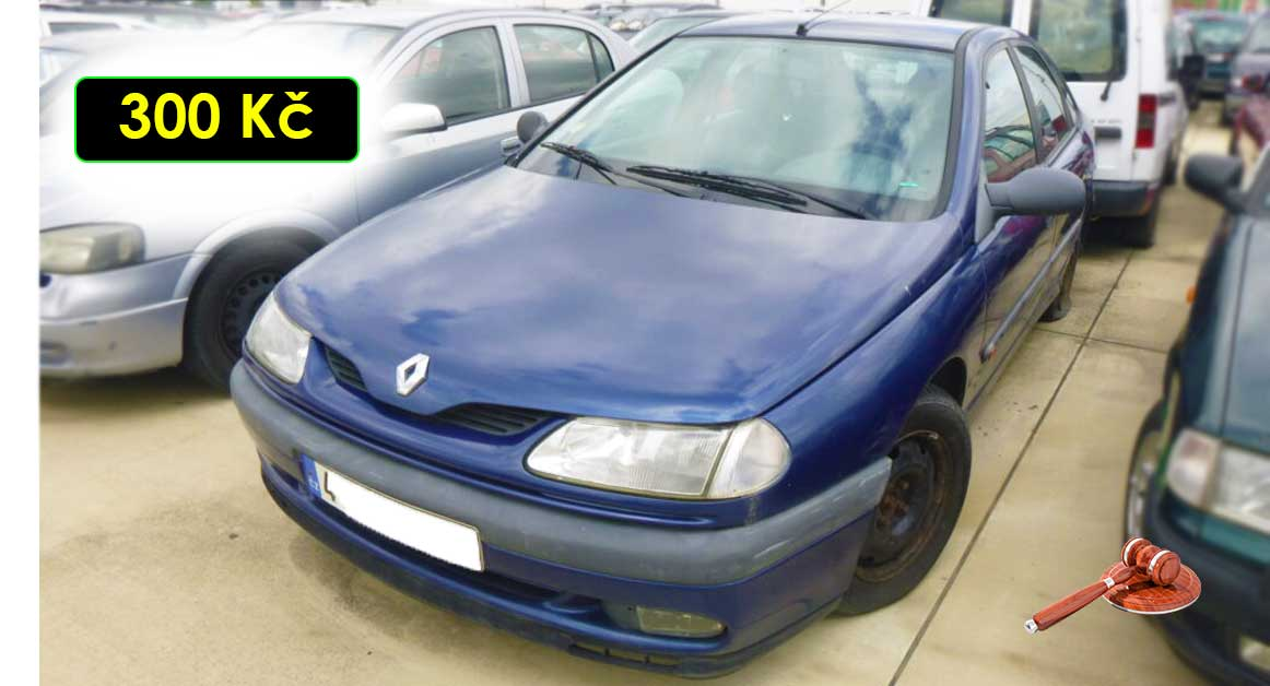 5.10.2021 Dražba automobilu Renault Laguna 1.8. Vyvolávací cena 300 Kč, ➡️ ID829623