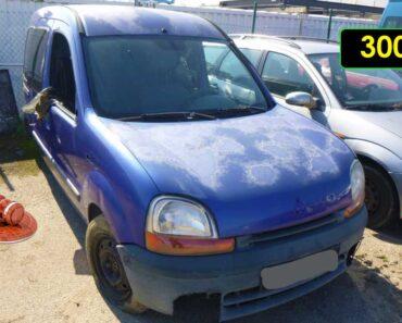 12.10.2021 Dražba automobilu Renault Kangoo 1.4. Vyvolávací cena 300 Kč, ➡️ ID826718