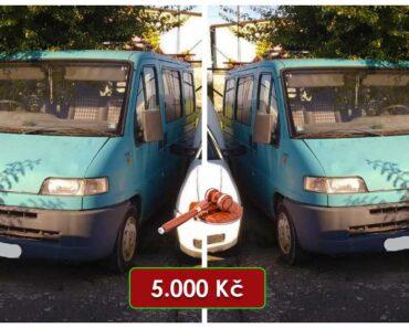 26.10.2021 Dražba automobilu Fiat Ducato Combinato 2.5. Vyvolávací cena 5.000 Kč, ➡️ ID829519