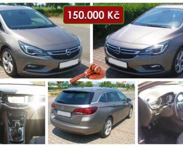 Zisková Dražba Opel Astra r. v. 2016 – vydraženo jen za: 269.000 Kč
