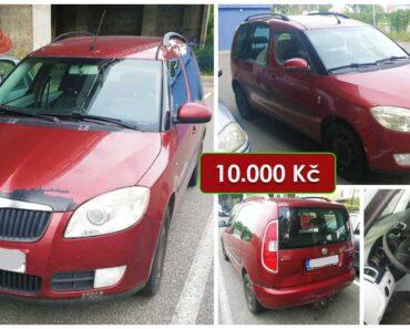 7.10.2021 Dražba automobilu Škoda Roomster. Vyvolávací cena 10.000 Kč, ➡️ ID825773