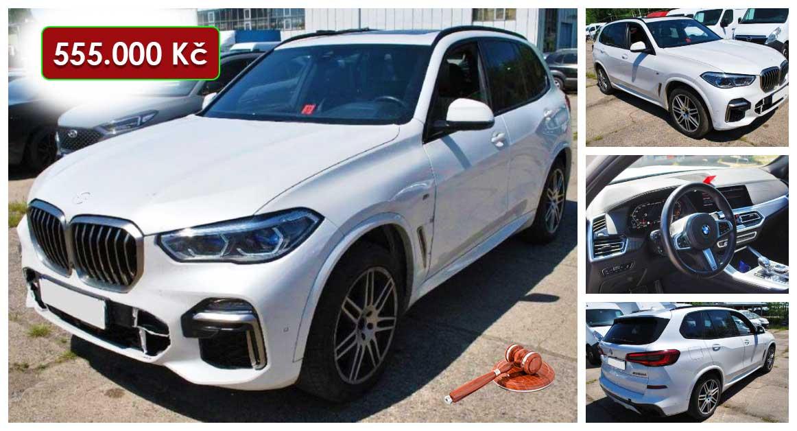 Do 30.9.2021 Aukce automobilu BMW X5 M50d. Vyvolávací cena 555.000 Kč, ➡️ ID829841