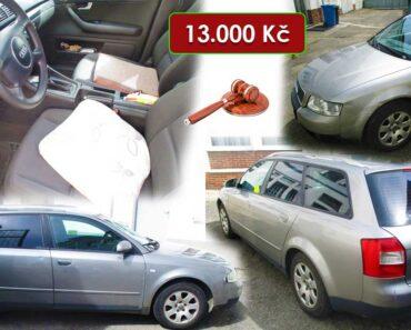 14.10.2021 Dražba automobilu Audi A4 Avant 1,9 TDi. Vyvolávací cena 13.000 Kč, ➡️ ID825485