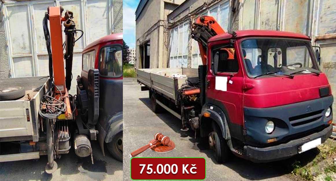Do 10.11.2021 Dražba nákladního automobilu Avia75 s hydraulickou rukou. Vyvolávací cena 75.000 Kč, ➡️ ID832744