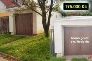 25.11.2021 Dražba nemovitosti (Zděná garáž). Vyvolávací cena 195.000 Kč, ➡️ ID834840