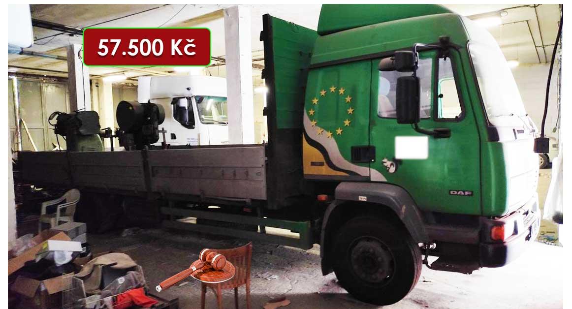 Do 10.11.2021 Dražba nákladního automobilu DAF. Vyvolávací cena 57.500 Kč, ➡️ ID832756