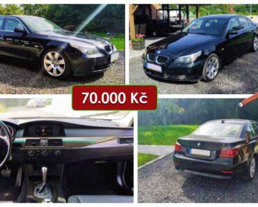 Do 1.11.2021 Aukce automobilu BMW 5 3.0. Vyvolávací cena 70.000 Kč, ➡️ ID831424