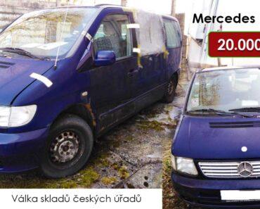Do 31.10.2021 bude probíhat aukce automobilu Mercedes Benz Vito , vyvol. cena 20.000 Kč ➡️