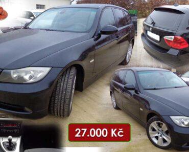 16.11.2021 Dražba automobilu BMW 318d Touring. Vyvolávací cena 27.000 Kč, ➡️ ID833858