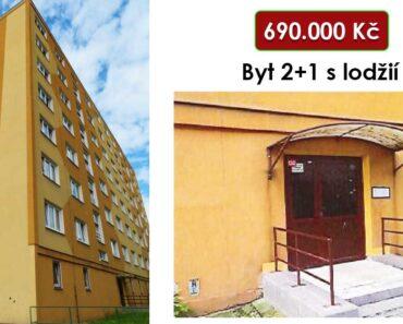 15.12.2021 Dražba nemovitosti (Byt 2+1 s lodžií). Vyvolávací cena 690.000 Kč, ➡️ ID834456