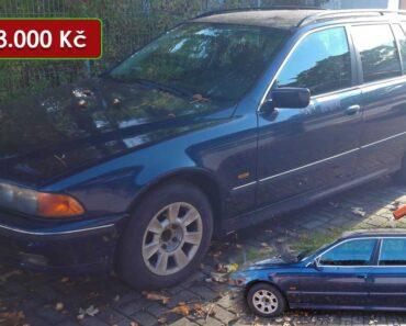 16.11.2021 Dražba automobilu BMW 520i. Vyvolávací cena 13.000 Kč, ➡️ ID834157
