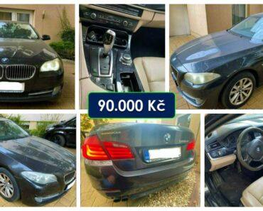 23.11.2021 Dražba automobilu BMW 520d. Vyvolávací cena 90.000 Kč, ➡️ ID834745